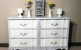 paint brings bling to this dated french provincial dresser, painted furniture