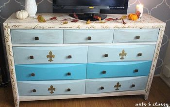 DIY Furniture  Dresser Gets A Poetic French Makeover