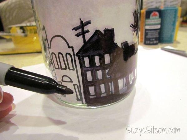 city skyline luminaries, crafts, home maintenance repairs, ponds water features