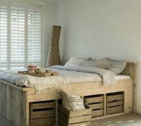 Wooden pallet bed frame Hometalk