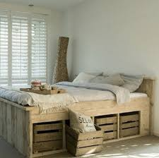 q wooden pallet bed frame, bedroom ideas, pallet, repurposing upcycling, woodworking projects