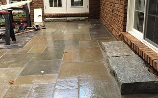 flagstone patio installation, concrete masonry, decks