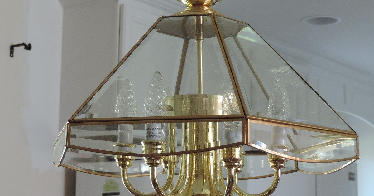 Change a chandelier from brass to chrome hometalk mozeypictures Images
