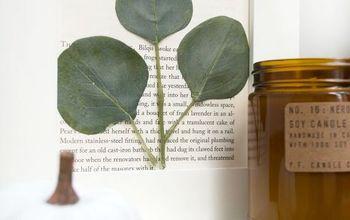 How to Create Pressed Eucalyptus Art