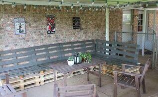 diy pallet furniture, outdoor furniture, painted furniture, pallet