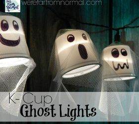 k cup ghost lights cleaning tips halloween decorations home decor seasonal holiday