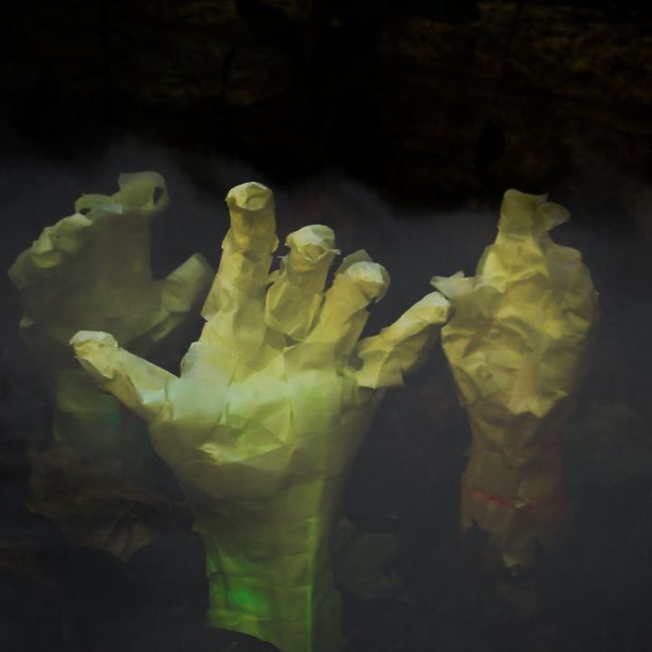 creepy mummy hands, crafts, halloween decorations