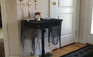 turn a old lamp into halloween fun , crafts, fireplaces mantels, halloween decorations, lighting, repurposing upcycling, seasonal holiday decor