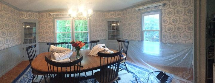 Modern Colonial Dining Room Ideas Painting Prepping For Wallpaper Steaming