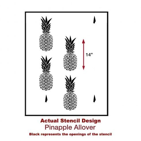 pineapple wallpaper hack using the pineapple stencil, home decor, painting, wall decor