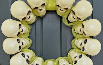 Dollar Store Skull Wreath