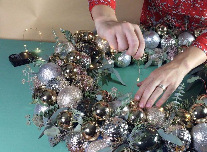Ornament wreath hometalk ornament wreath christmas decorations crafts home decor lighting seasonal holiday decor teraionfo