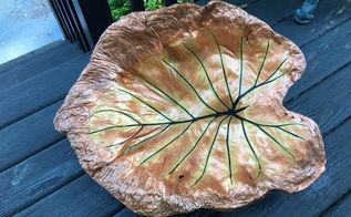 leaf casting in cement bird bath, bathroom ideas, concrete masonry