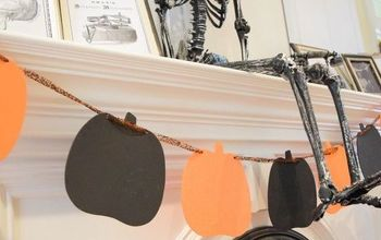dollarstore pumpkin banner , crafts, halloween decorations