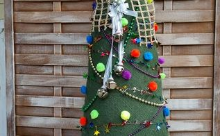 burlap christmas tree, crafts
