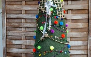 burlap christmas tree, crafts