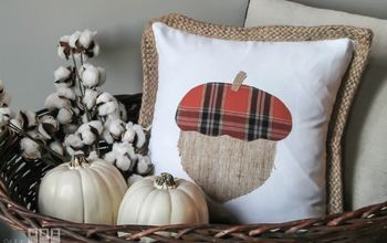 cute fall pillow from a thrift store shirt, crafts, halloween decorations, how to, pallet, seasonal holiday decor, reupholster