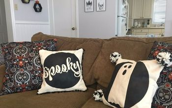 spooky ghost halloween pillow cover tutorial, halloween decorations, how to, seasonal holiday decor