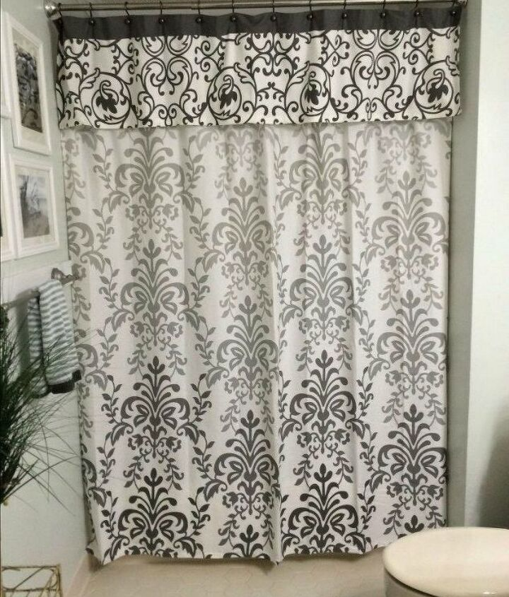 s 10 ways you never thought of using a curtain rod in your home, home decor, window treatments, Hang a trendy shower curtain valance