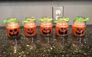 Easy Halloween Candle Craft