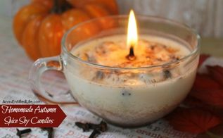 homemade autumn spice soy candles, architecture, crafts, how to, seasonal holiday decor