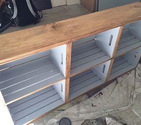 Wood Crate Rolling Cart Hometalk