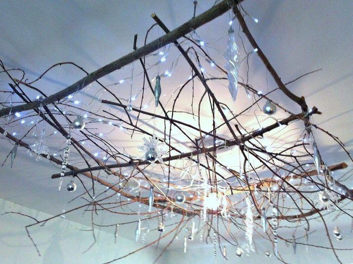 rustic twig chandelier, gardening, lighting