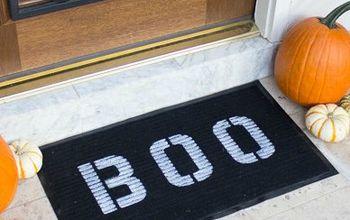 BOO! Simple Halloween Doormat