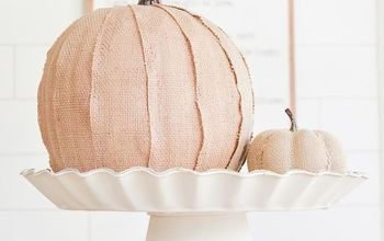 cute and easy burlap covered pumpkin, crafts