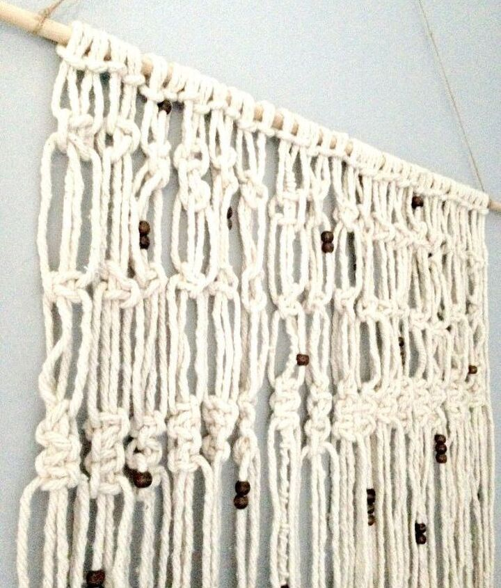 diy macrame wall hanging using mop refill, gardening, home decor, how to, wall decor