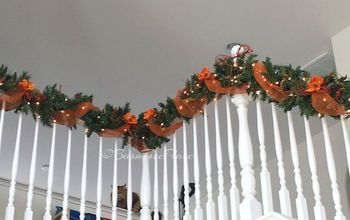 fall banister decorating, christmas decorations, gardening, halloween decorations, home decor, seasonal holiday decor