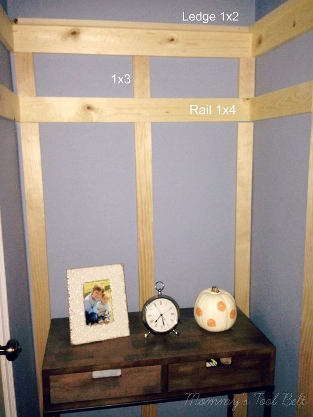 entryway board batten, crafts, home decor, how to, woodworking projects