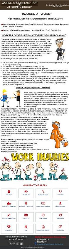workers compensation lawyer california infographics