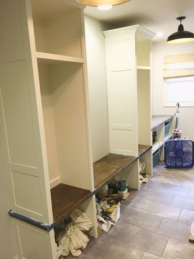 diy laundry mudroom makeover, foyer