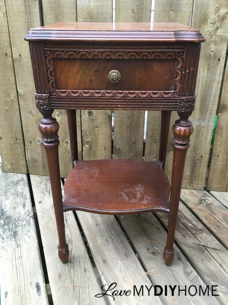 "antique side table chooses life, home decor, painted furniture, painting,  repurposing upcycling - I Would Never Paint Furniture, But This Blew Me Away!"" Said A Reader"