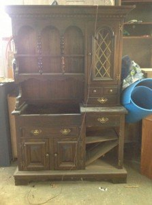 a painted hutch beast turned beauty, painted furniture, The Beast