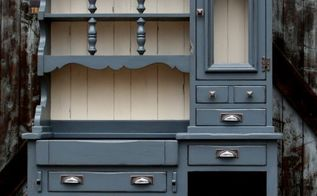 a painted hutch beast turned beauty, painted furniture