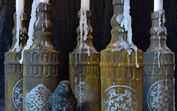 Halloween DIY: Rusted Glass Candles