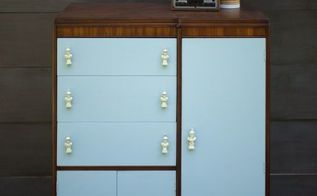 chess piece armoire, painted furniture