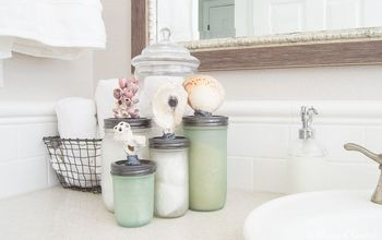 how to transform mason jars into seaglass , home decor, how to, mason jars, painting, storage ideas