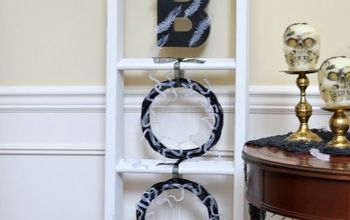 dollar store boo snake wreaths just in time for halloween, crafts, halloween decorations, seasonal holiday decor, wreaths