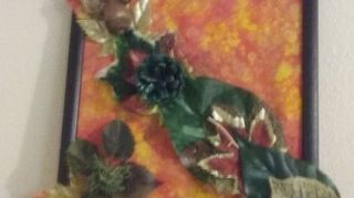 , My granddaughter and grandson s Autumn Wall Hanging