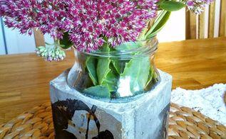 nail polish decorated concrete pot, concrete masonry