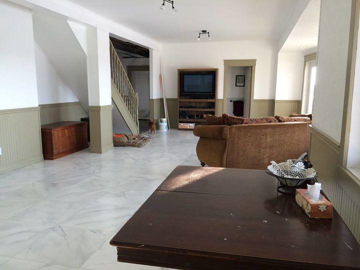 faux marble flooring, flooring, painting, tiling