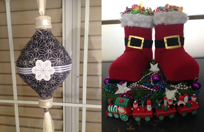Diy christmas decorations from recycled water bottles