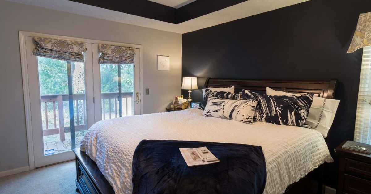 Navy And Gray Master Bedroom Design Hometalk