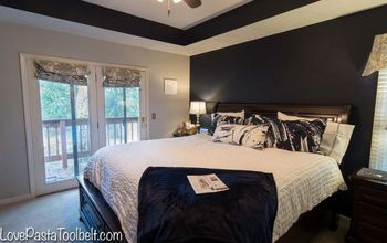 navy and gray master bedroom design, bedroom ideas, home decor
