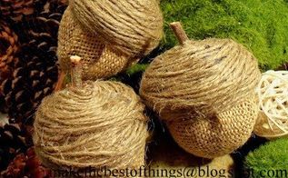 make these giant acorns for fall, crafts, gardening, home decor, woodworking projects