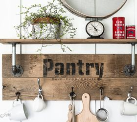 Merveilleux Make An Easy Pipe And Reclaimed Wood Shelf In Minutes Pantry Style ,  Closet, Crafts