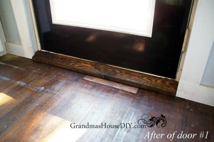 s 10 easy ways to fix your old door in under an hour, doors, Replace your door s broken threshold